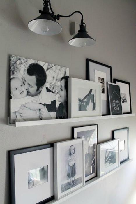 Минималистический стиль для оформления семейной галереи.