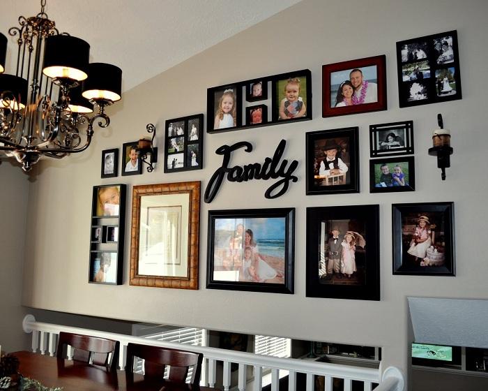 Классическое оформление семейной галереи.