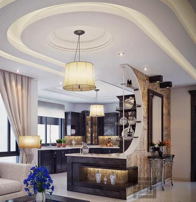Домашний бар украсит интерьер кухни.