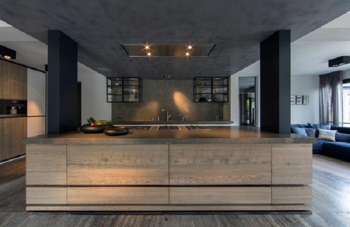 Отменное настроение в декорировании кухни, которая быстро и ярко преображена за счет необычного дизайна.
