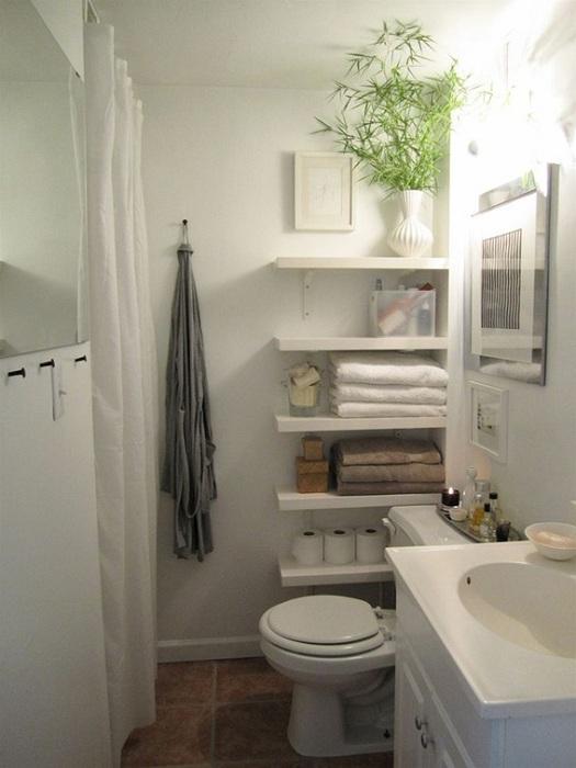 Оригинальный пример создания оптимальной атмосферы в ванной комнате.