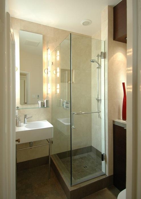 Просто отличный дизайнерский пример оформления интерьера в ванной комнате.