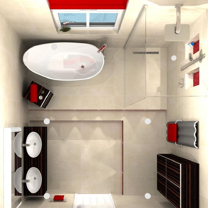 Стоит подумать о том что если в ванной комнате будут окна это поможет увеличить пространство.