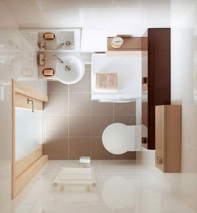 Добавив светлых тонов в интерьер ванной, возможно достичь увеличения пространства зрительно.
