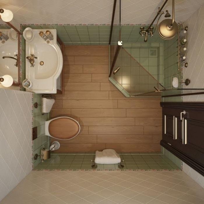 По возможности возможно создать в ванной комнате душевую нестандартной формы, что определенно понравится.