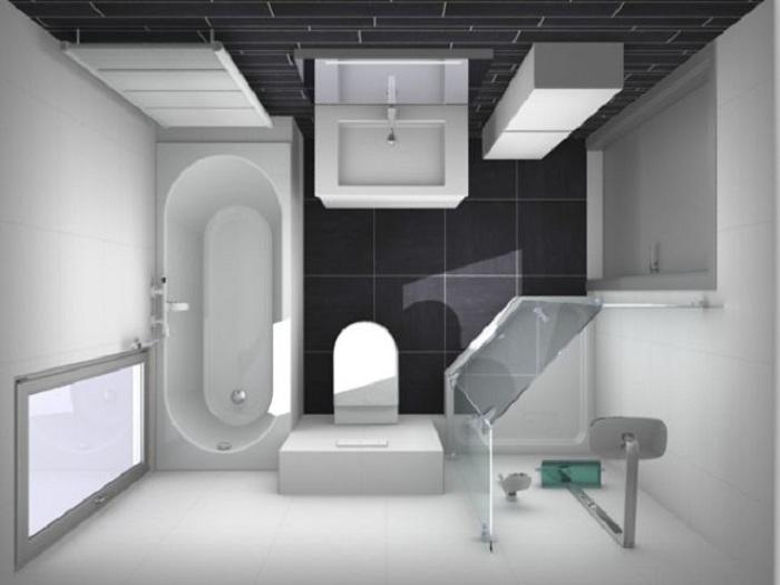 Крутое оформление ванной комнаты в черно-белых тонах, что вдохновит.