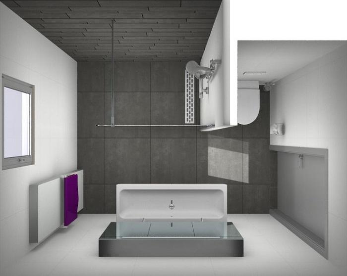 Просто шикарный вариант облагородить интерьер ванной комнаты в минималистическом исполнении.