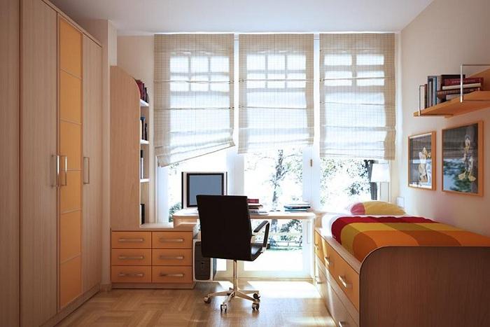 Отличный вариант декорировать комнату деревянными текстурами, что подарит положительные впечатления и массу положительных эмоций.