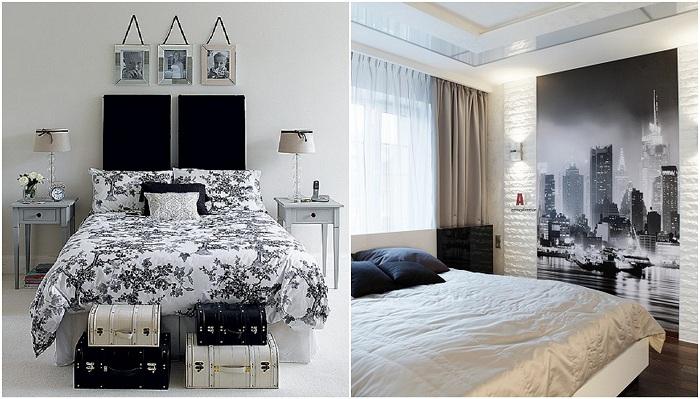 Черно-белые интерьеры в доме.