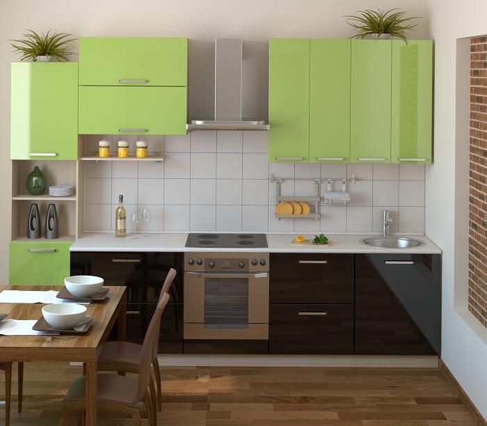 Хороший вариант оформления интерьера кухни в кофейно-оливковых тонах, что станет прекрасным вариантом для преображения интерьера.