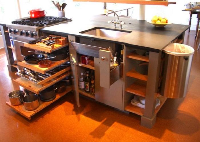 Симпатичное оформление пространства на кухне, что станет просто находкой для декора такого типа комнаты.