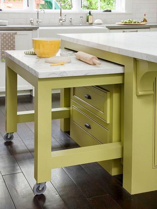 Оригинальные решения для преображения атмосферы на кухне при помощи интересного варианта оформления самого обычного кухонного стола.