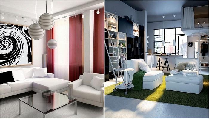 Дизайнерские решения для украшения комнат.
