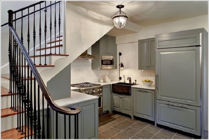 Очень хорошее и удачное решение создать комфортную мини-кухню.