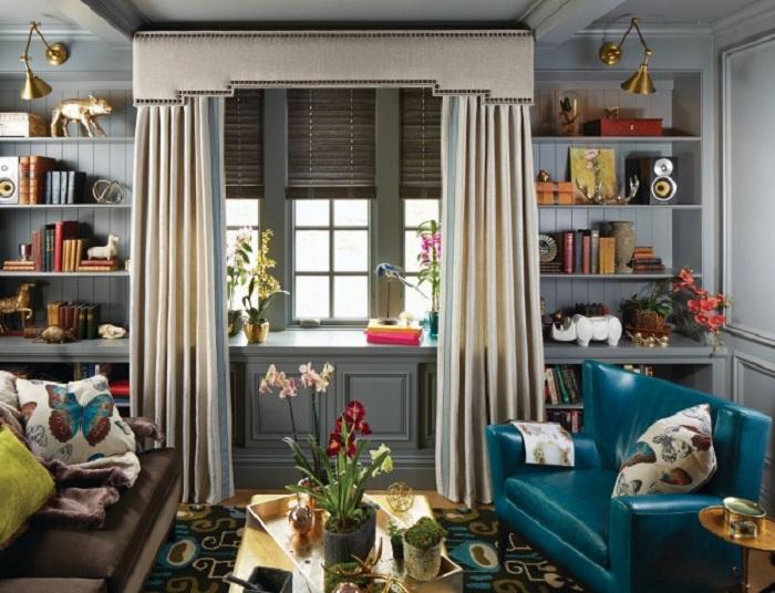Симпатичное и оригинальное решение для декорирования небольшой гостиной, что вдохновит.