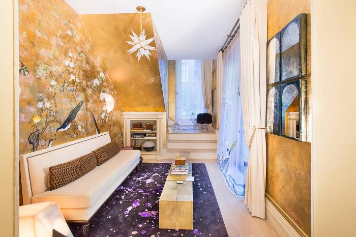 Потрясающее решение преобразить гостиную позволило воплотить самые невероятные дизайнерские фантазии.