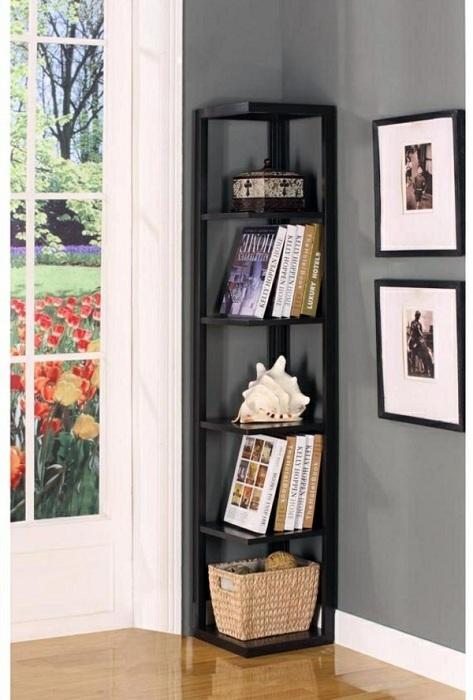 Угловой шкаф станет потрясающим решением для оформления пространства комнаты.