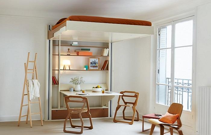 Прекрасный вариант максимально комфортно обустроить пространство в спальной.