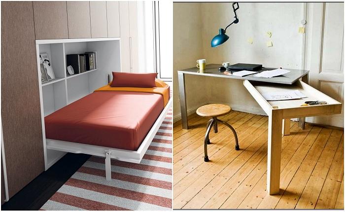 Примеры оформления компактно и комфортно комнат.