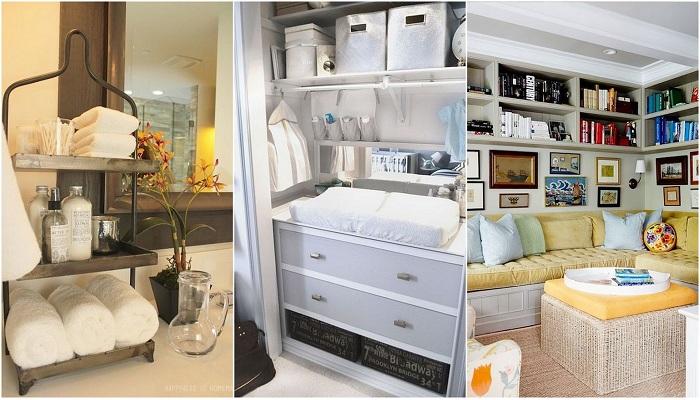 Отличные примеры организации пространства в гостиной, что понравятся.