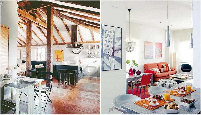 Примеры расширения пространства в комнатах.