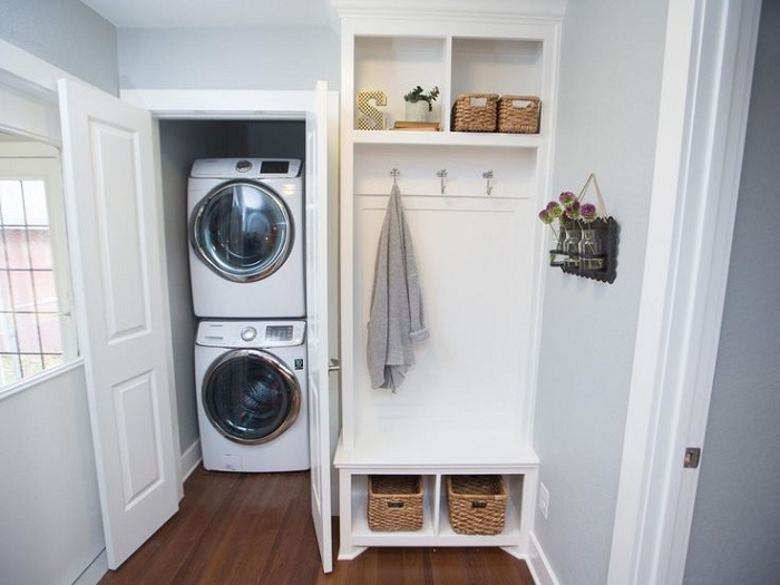 drywall  Concerns with washer and dryer in walk in closet