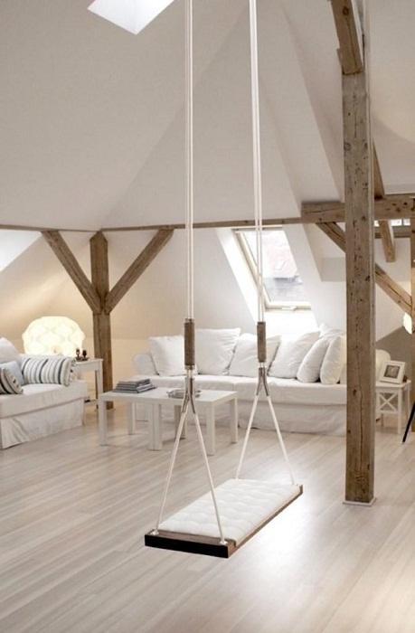 Оптимальное оформление интерьера комнаты в светлых тонах.