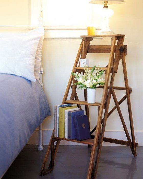 Столик своими руками из стремянки, необычное и креативное решение для обустройства комнаты.