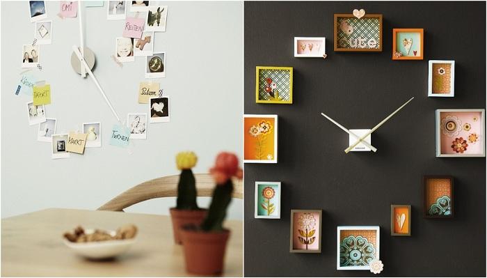 Варианты создания часов для дома.