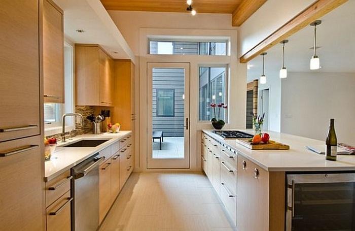 Вариант оформления кухни в светлых тонах, что однозначно понравится и вдохновит.