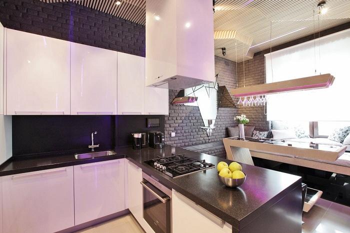 Просто потрясающий интерьер кухни, что станет находкой и лучшим решением.