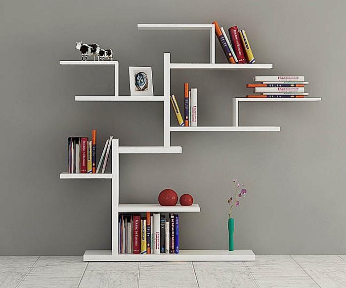Красивые идеи, как обустроить интерьер благодаря оригинальной белой полки.