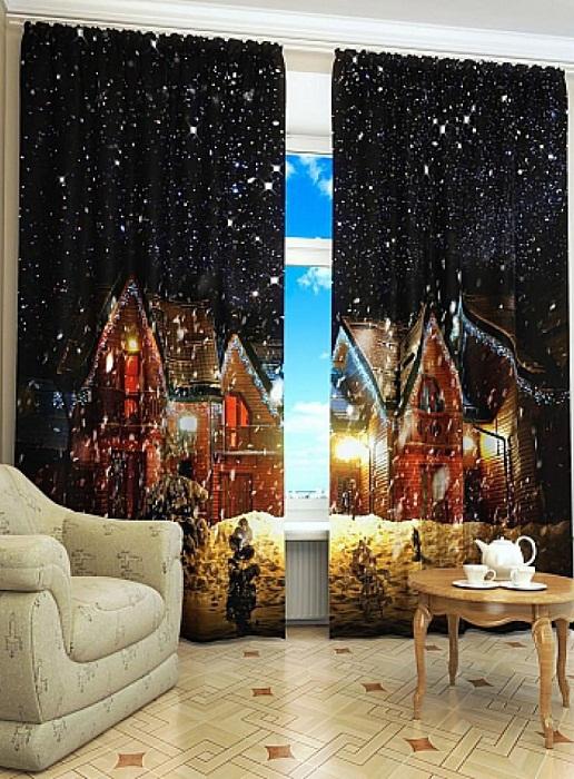 Один из примеров создания праздничной атмосферы в комнате.