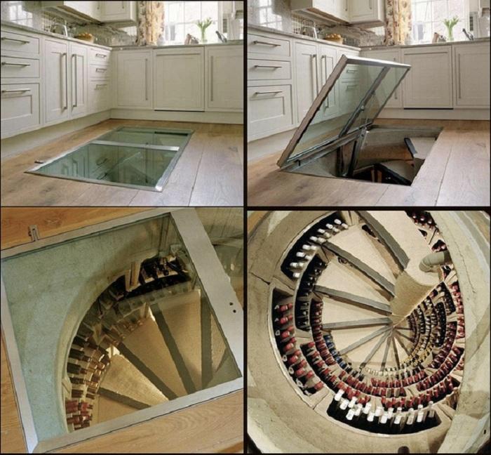 Удачное решение для того чтобы создать винный погреб, что станет просто находкой для любого дома.