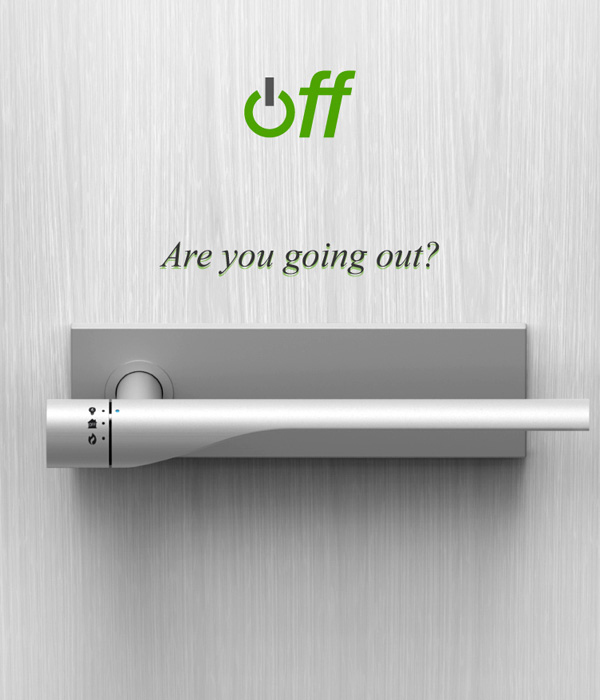 Дверная ручка, которая позволит выключить электричество и газ, когда вы покидаете дом.