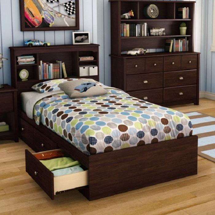Удачные ниши под кроватью, что позволят создать просто отличное настроение и по максимуму оптимизировать комнату для сна.