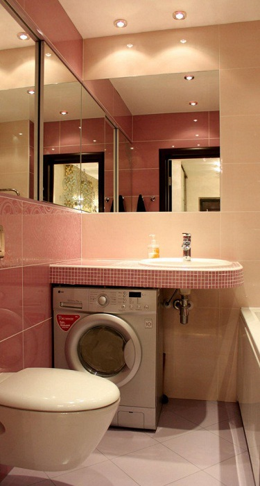 Отменный интерьер небольшой ванной комнаты, что станет просто одним из самых лучших решений для декора.