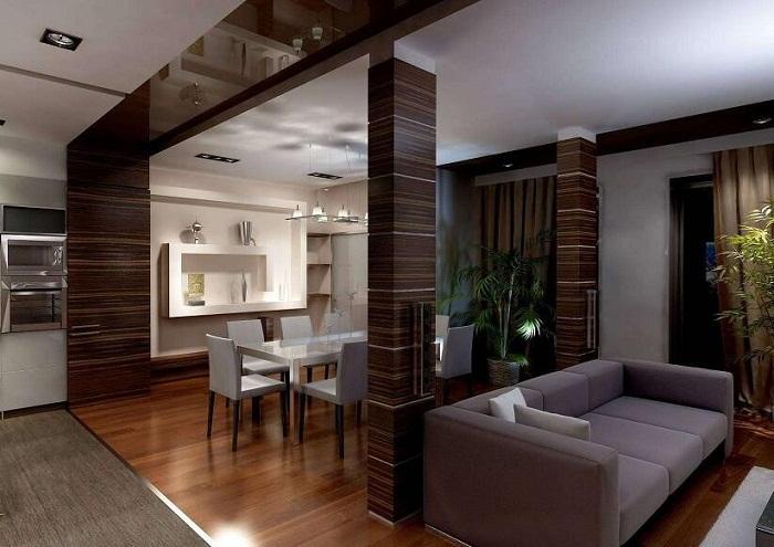 Стильные шоколадные тона в оформлении интерьера станут просто оптимальным и ярким решением для декора.