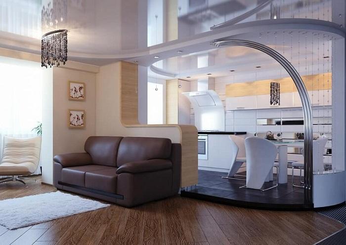 Прекрасный вариант оформить по богатому интерьер с применением элегантных элементов декора.
