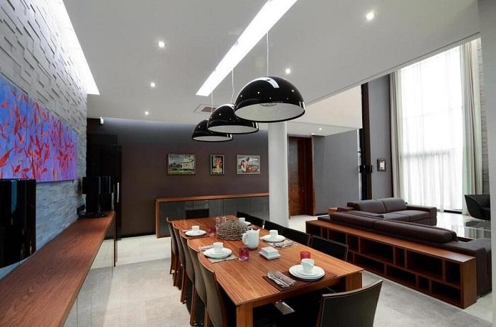 Прекрасный вариант оформить интерьер в темных шоколадных тонах, что добавит стиля и шарма любому из интерьеров.