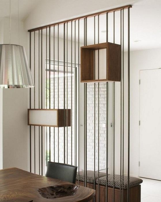 Зонирование пространства, что станет просто оптимальным и прекрасным вариантом для решения вопросов экономии пространства в комнате.