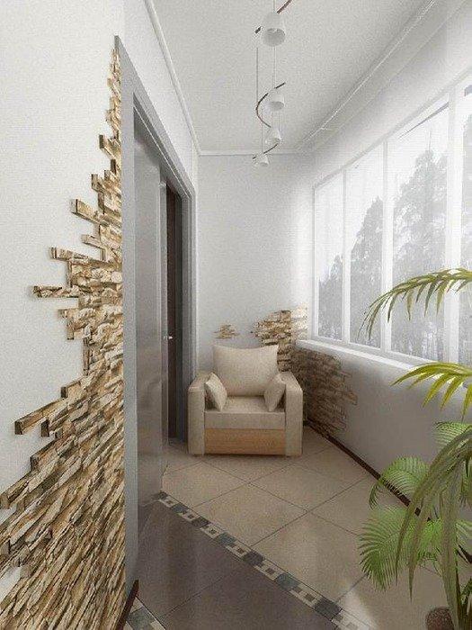 Пожалуй самый лучший вариант декорирования балкона и создание обстановки для отдыха.
