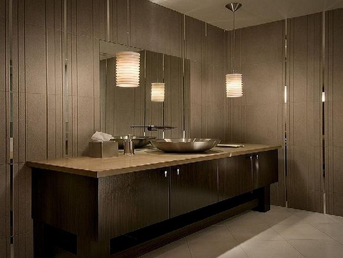 Симпатичное оформление ванной комнаты в красивом кофейном цвете, что порадует глаз и подарит массу положительных эмоций.
