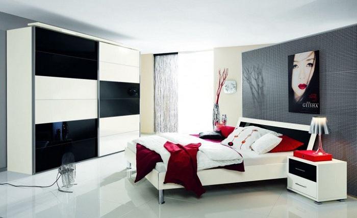 Отменный интерьер спальни в современном стиле.
