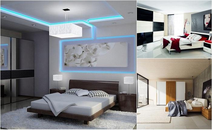 Примеры оформления современных спален.
