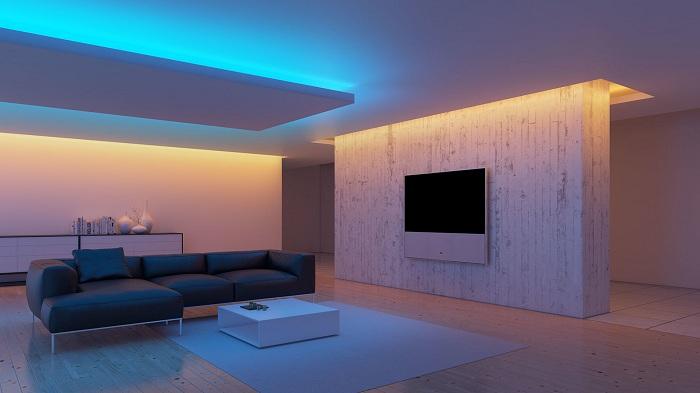Лучший пример оформления интерьера с помощью светодиодной подсветки.