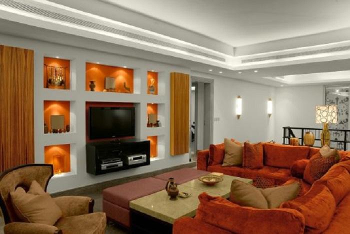 Шикарный интерьер в терракотовых цветах, что создаст дополнительный уют в любой из комнат.