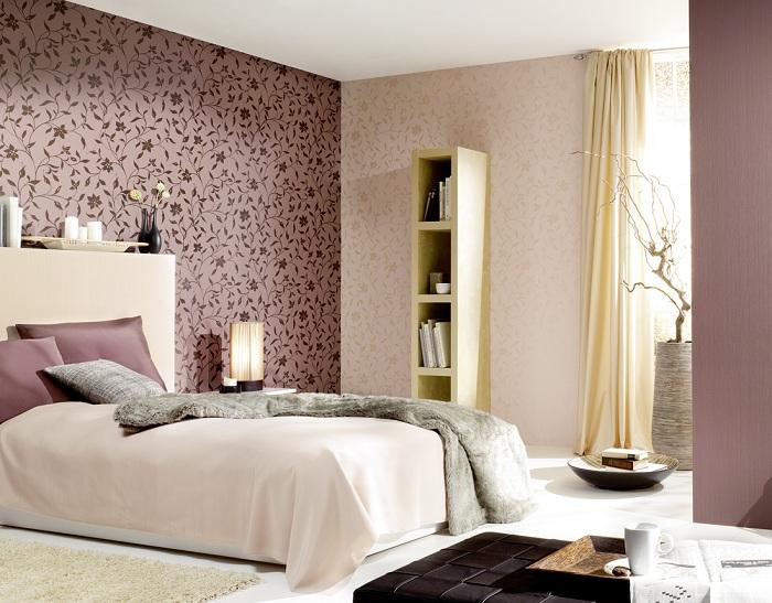 19 простых но стильных вариантов оформления спален обоями
