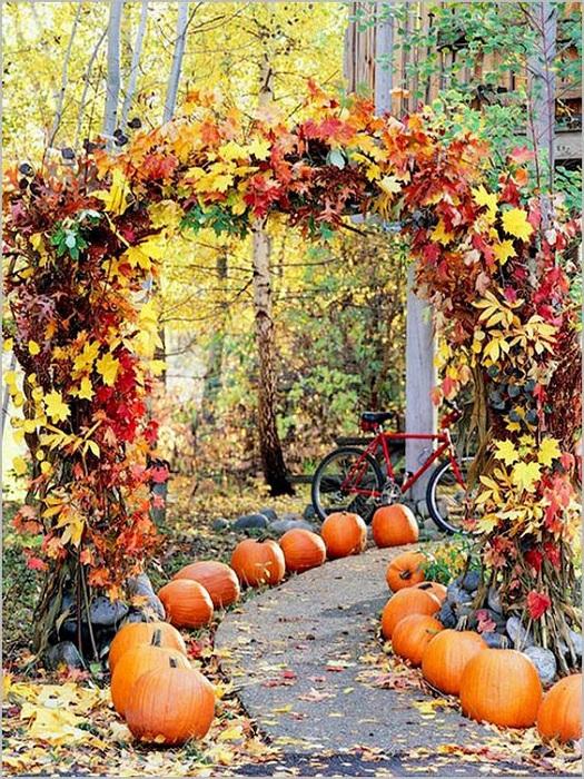 Симпатичная обстановка для свадебной фотосъемки в осеннюю пору года, что может создать интересное настроение.
