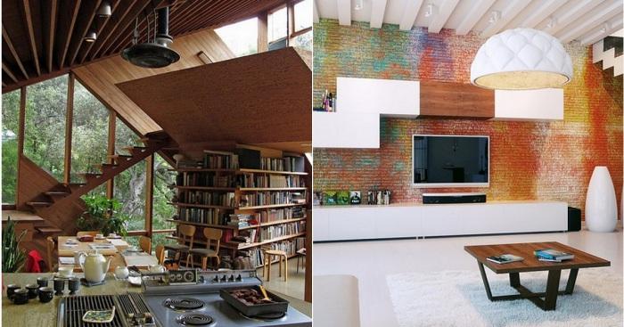 Интересный интерьер с нестандартными конструкциями, которые изменят представление о дизайне комнат.